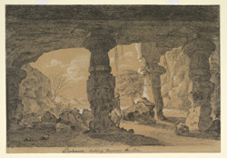 'Elephanta looking towards the Sea.  G. Ridge.  March 1829'